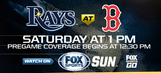 Preview: Rays face Red Sox's Sale in game moved to afternoon start