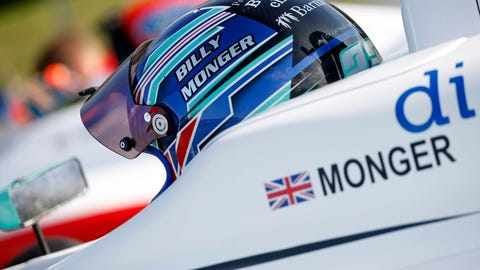 Billy Monger pictured ahead of the British F4 race at Donington Park in England. (Photo: LAT Images)