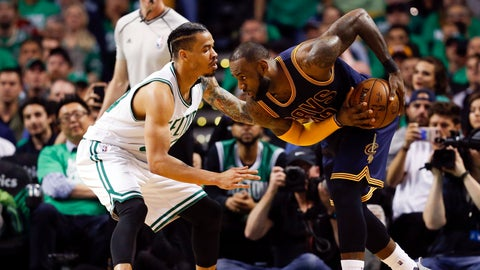 LeBron James had an easy adjustment for the Celtics' defensive strategy