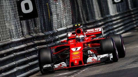 Kimi Raikkonen will start on pole for Sunday's Monaco GP. (Photo: Glenn Dunbar/LAT Images)
