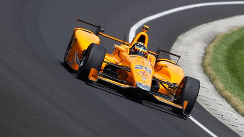 Fernando Alonso retired with 21 laps to go in the Indianapolis 500. (Photo: Steven Tee/LAT Images)