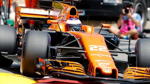 If Jenson Button returns to F1, a grid penalty awaits him. (AP Photo/Frank Augstein)