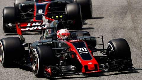 The U.S.-based Haas F1 Team has finally finished with both cars in the points. (Photo: Glenn Dunbar/LAT Images)