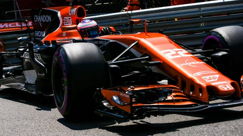 Jenson Button is racing for McLaren Honda at Monaco this weekend. (Photo: Charles Coates/LAT Images)