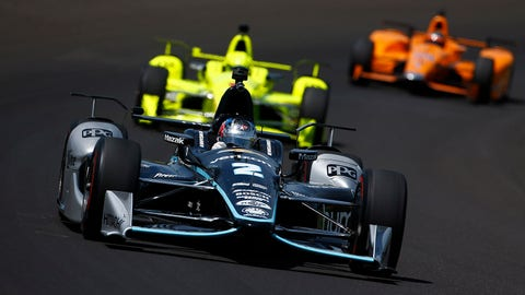 Josef Newgarden (pictured) and Graham Rahal have visor cam for this year's Indianapolis 500. (Photo: Phillip Abbott/LAT Images)