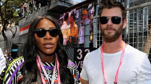 Serena Williams and Chris Hemsworth