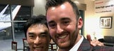Austin Dillon's awesome day in New York with Takuma Sato