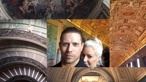 The Miz and Maryse in Rome, Italy