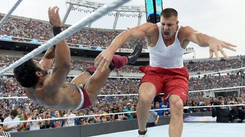 Fox Sports: What did that tackle from Rob Gronkowski feel like at WrestleMania?