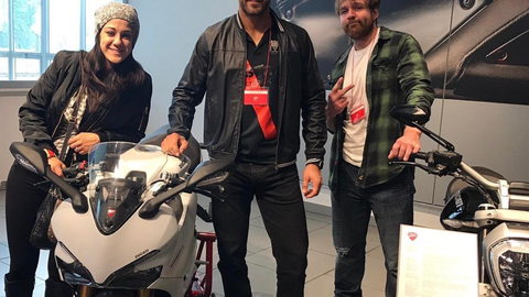 Bayley, Cesaro and Dean Ambrose in Bologna, Italy