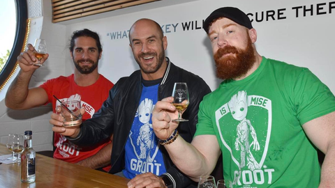 Seth Rollins, Cesaro and Sheamus in Dublin, Ireland