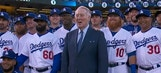 Dodgers honor Vin Scully with ring of honor ceremony before Giants game