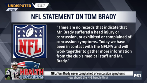 The NFL issued a statement following Bundchen's interview and noted that Brady has never reported a head injury