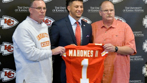 Patrick Mahomes, Chiefs (first round, No. 10 overall)