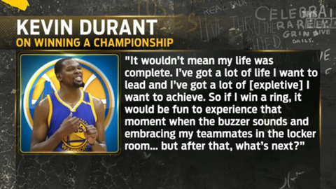 Kevin Durant: A championship won't complete my life