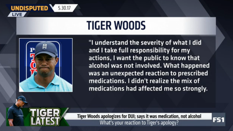 Tiger Woods: No alcohol was involved