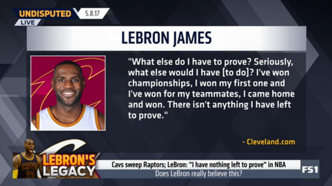 LeBron James: What else do I have to prove?