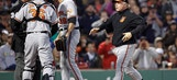 Gausman ejected after another hit batter in Red Sox-Orioles