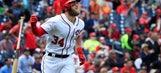 Bryce Harper leaves game after injuring left groin
