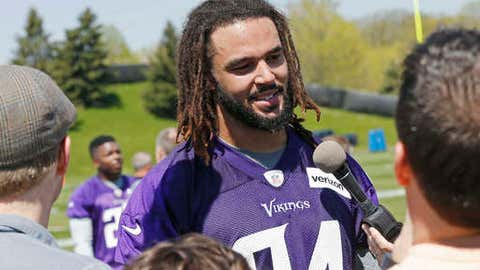Bucky Hodges, Vikings tight end (↓ DOWN)