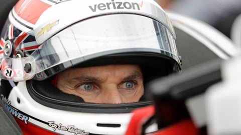 Will Power, of Australia, waits in his car during practice for the Grand Prix of Indianapolis IndyCar auto race at Indianapolis Motor Speedway in Indianapolis, May 12, 2017. (AP Photo/Darron Cummings)
