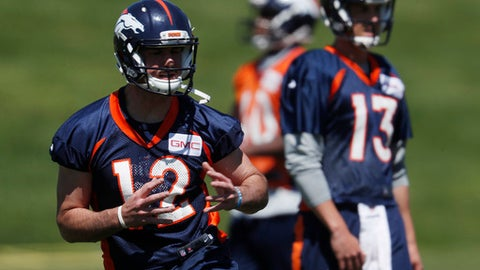 The Broncos' QB competition will be decided late in camp