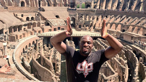 Titus O'Neil in Rome, Italy