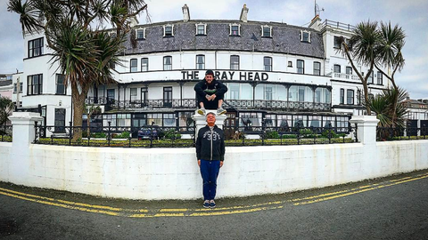 Enzo Amore and Finn Balor's dad in Bray, Ireland