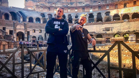 Big Cass and Enzo Amore in Rome, Italy