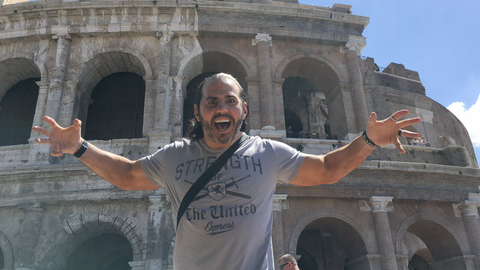 Matt Hardy in Rome, Italy