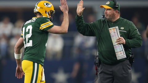 Rodgers' new offensive line is a big question mark
