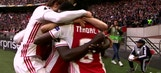 Bertrand Traore's header gives Ajax a 1-0 lead    2016-17 UEFA Europa League Highlights