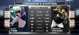 Edinson Volquez, Alex Cobb face off Tuesday night