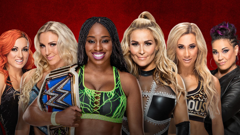 Becky Lynch, Charlotte and Naomi vs. Natalya, Carmella and Tamina in a six-woman tag team match