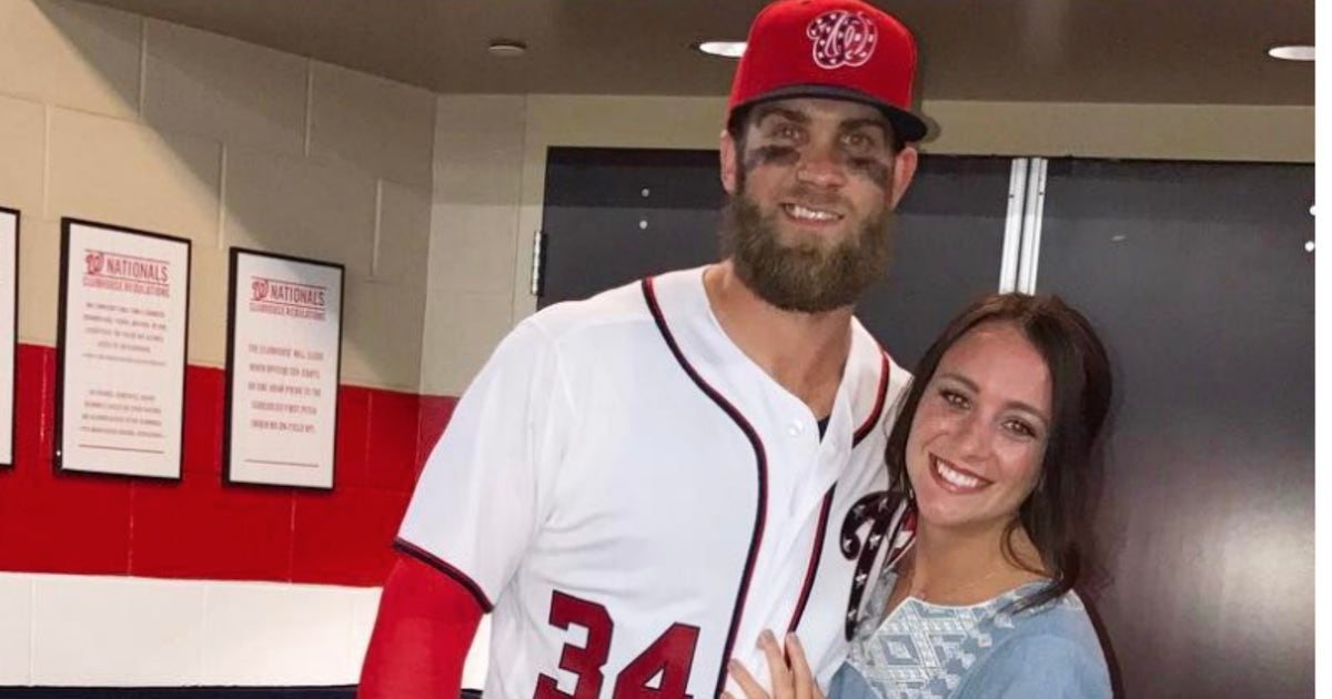Bryce Harper S Wife Won T Let His Brawl Ruin Her Vacation