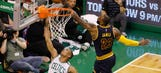 LeBron James continues dominance of Celtics with chase-down block
