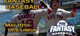 Daily Fantasy Baseball Advice – May 10