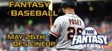 Daily Fantasy Baseball Advice – May 26 – DraftKings