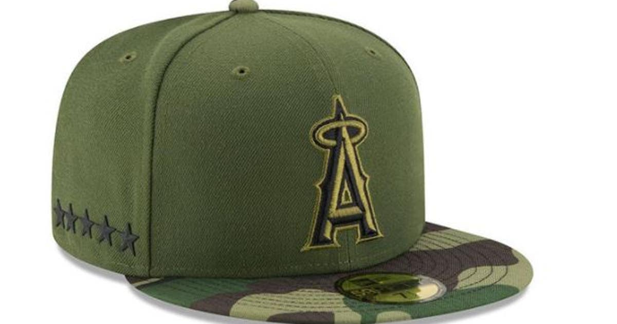 7ccb3117 Angels, MLB honor military with special Memorial Day hats, jerseys ...