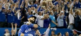 Watch Jose Bautista's latest bat flip cause benches to clear in Atlanta