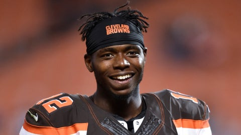 Cleveland Browns wide receiver Josh Gordon walks off the field after an NFL preseason football game, Thursday, Sept. 1, 2016, in Cleveland. The Bears won 21-7. (AP Photo/David Richard)