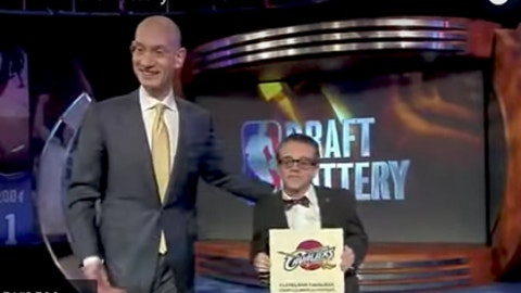 2011: Cavaliers win, Timberwolves GM implies the lottery is rigged