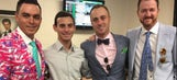 Rickie Fowler, Justin Thomas, Jimmy Walker and Justin Rose attend Kentucky Derby