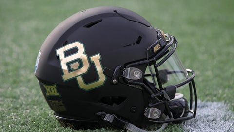 29 December 2015: A Baylor Bears helmet during the 2015 Russell Athletic Bowl between the North Carolina Tar Heels and Baylor Bears at the Florida Citrus Bowl Stadium in Orlando, FL. (Photo by Mark LoMoglio/Icon Sportswire) (Photo by Mark LoMoglio/Icon Sportswire/Corbis via Getty Images)