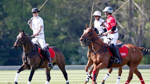 Left-handed polo players