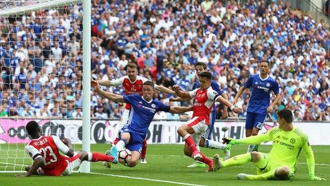 Gary Cahill kept Chelsea in the match