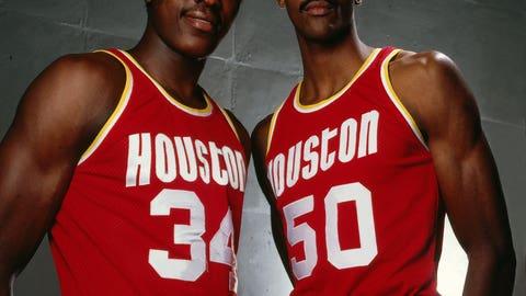 Ralph Sampson and Hakeem Olajuwon