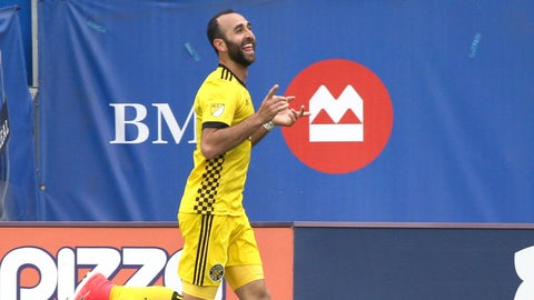 Justin Meram is on fire