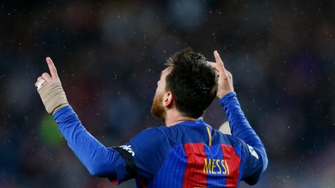 Right wing: Lionel Messi (Barcelona)