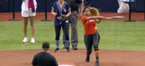 Marcell Ozuna's wife smashed a home run almost as impressive as her husband's